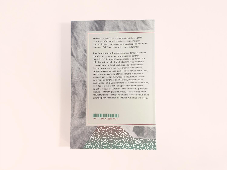 Conception graphique des couvertures de la collection Contrepartie des éditions Amsterdam. Quatrième de couverture du titre Islam et Prison